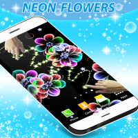 Neon Flowers Live Wallpaper for PC
