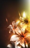 Glowing Flowers Live Wallpaper for PC