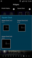 Square Clock for Screen for PC
