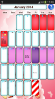 Woman diary (calendar) for PC